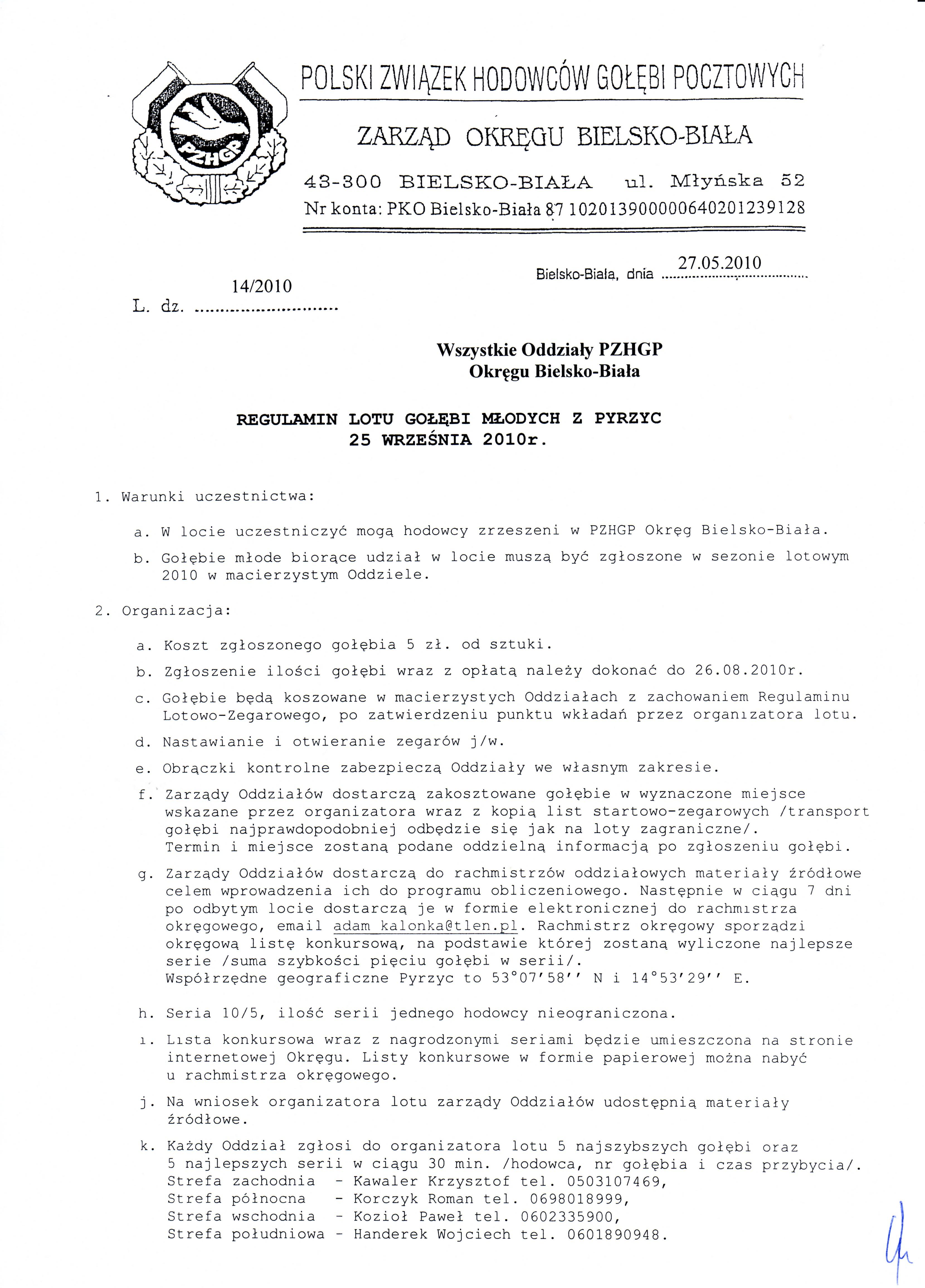 Regulamin Pyrzyce.